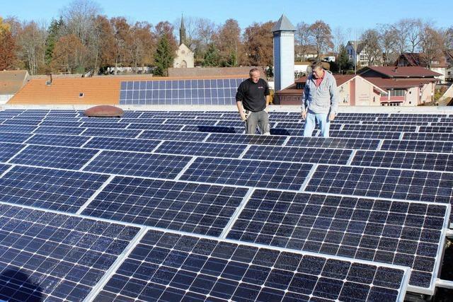Erste Solaranlage am Netz