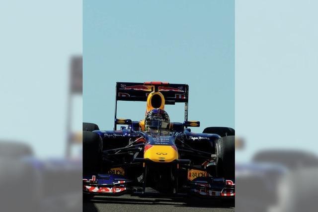 Vettel sorgt für einen Abflug