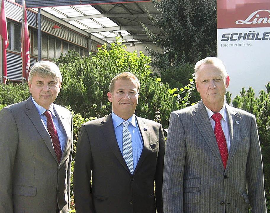 Der neue Vorstand bei der Schöler Lind...inks),  Ulrich Kurz und Jürgen Kiefer     Foto: Ralf Staub