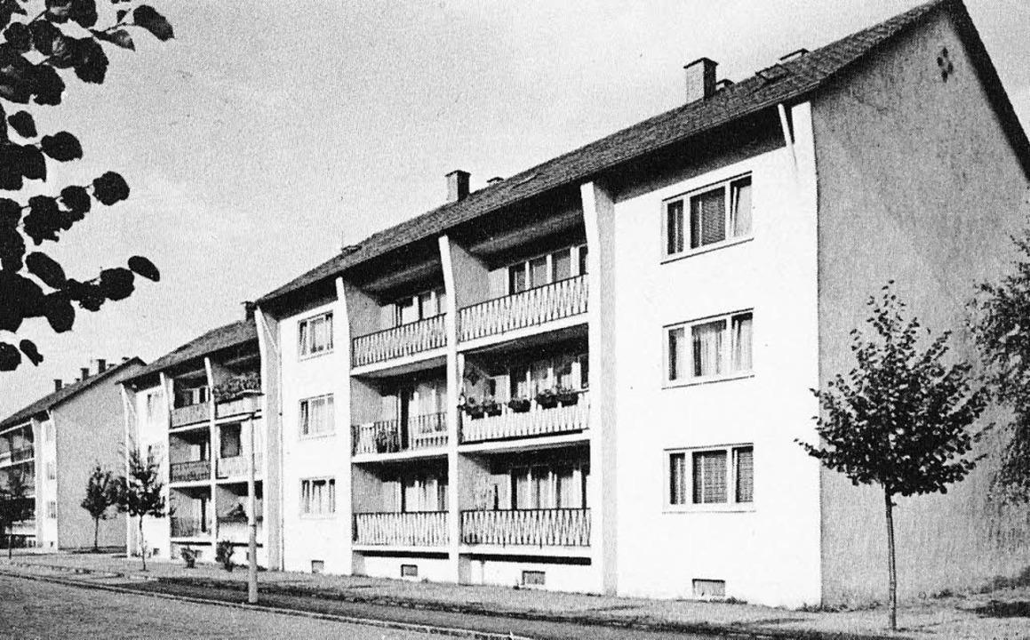 So sah es aus, als die Häuser neu gebaut waren.     Foto: Privat/Böhm-Jacob