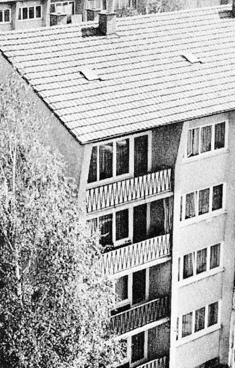 Wohnen in der  Werderstraße im Stil der 60er Jahre.    Foto: BZ