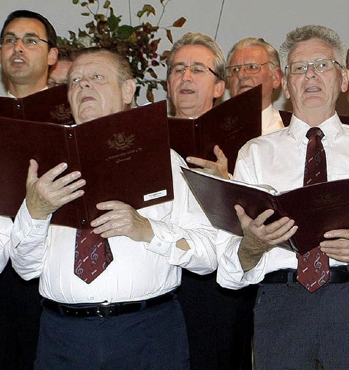 Gesanglich gut durch den Dirigenten ei... begeisterte der Männerchor Grenzach.   | Foto: Albert Greiner