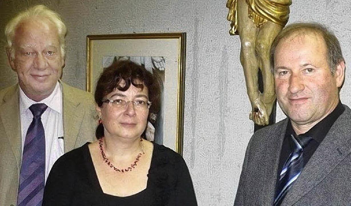 Begrüßten beim Tag des Ehrenamts die e...enschmitt und  Pfarrer Alois Schuler.   | Foto: Franz Hilger
