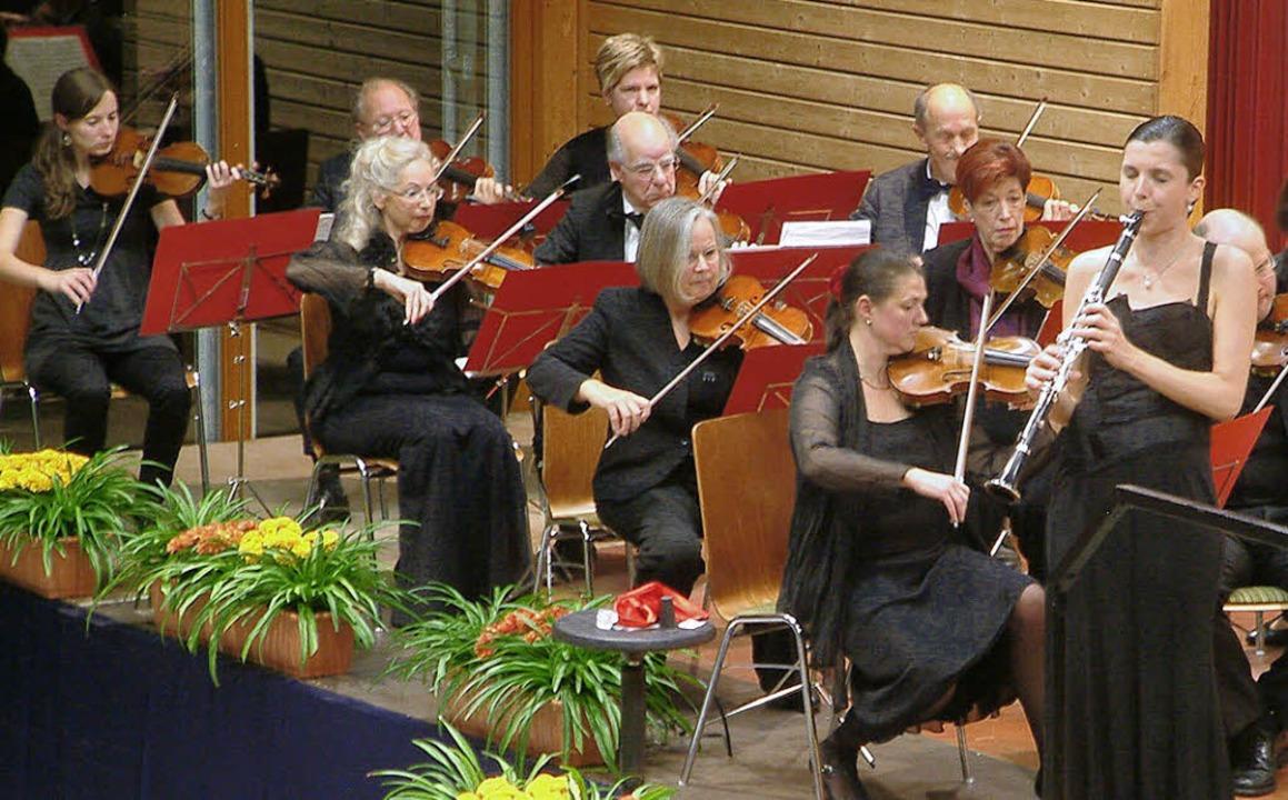 Die Klarinettistin Rossana Rossignoli brillierte als Solistin   | Foto: Frey
