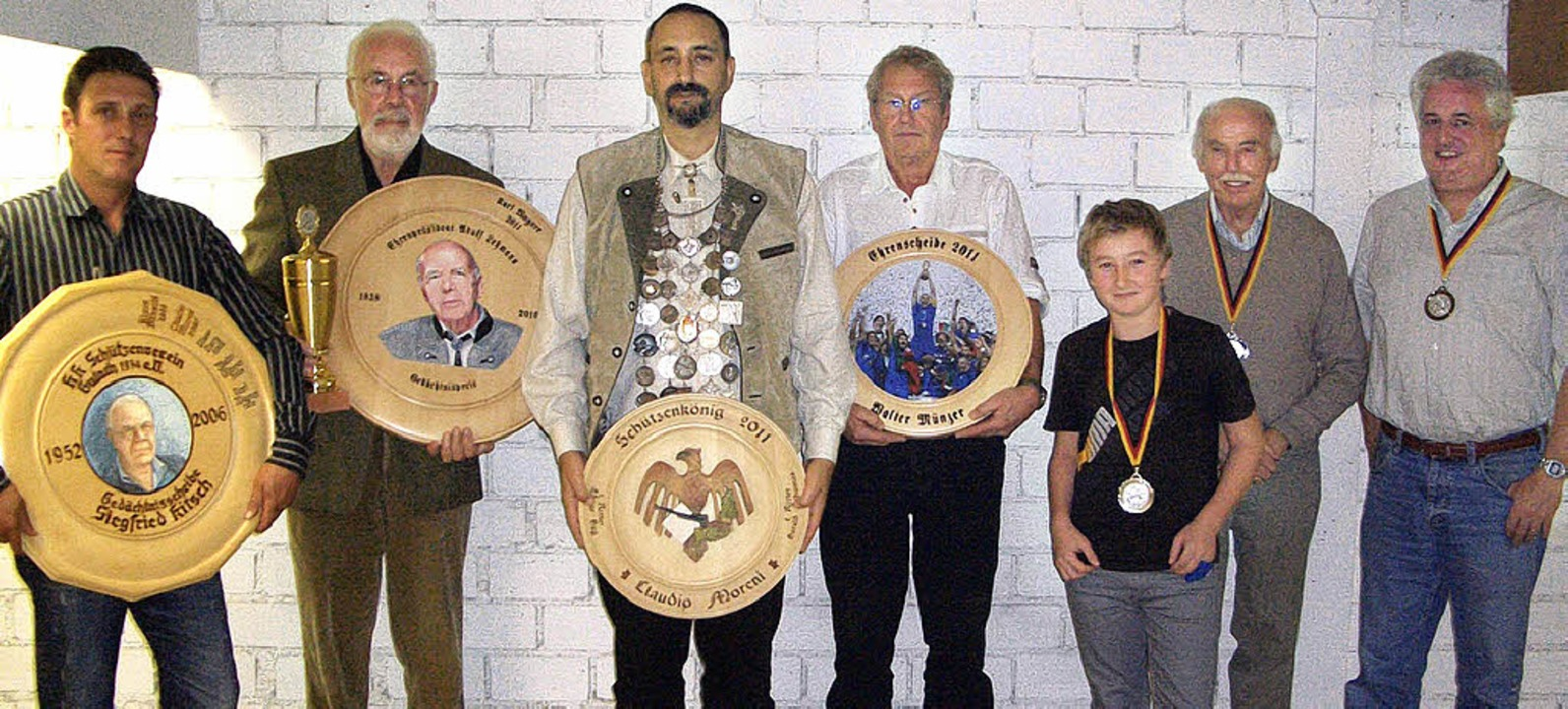 Gut geschossen:  Giacomo Bitto, Karl W...ar Hug und Harald Schomas (v. links).   | Foto: Verein
