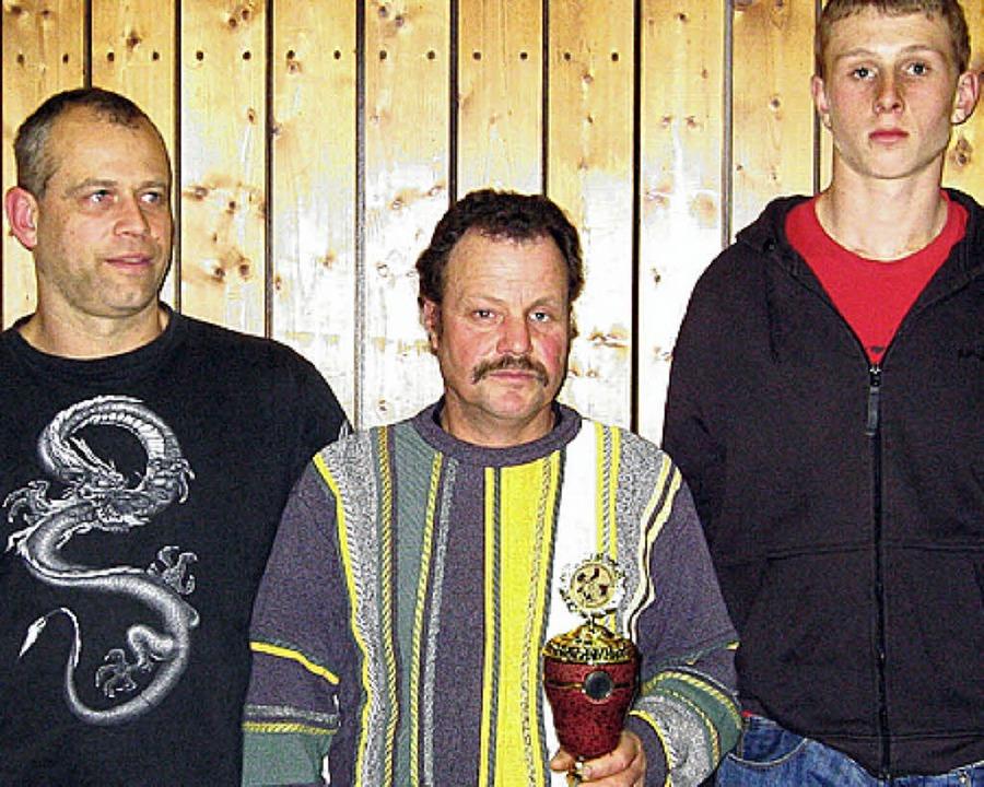 Frank Wunderlin, Peter Eiche und Mike Banholzer (von links) bekamen Bestnoten.     Foto: A. Ebner
