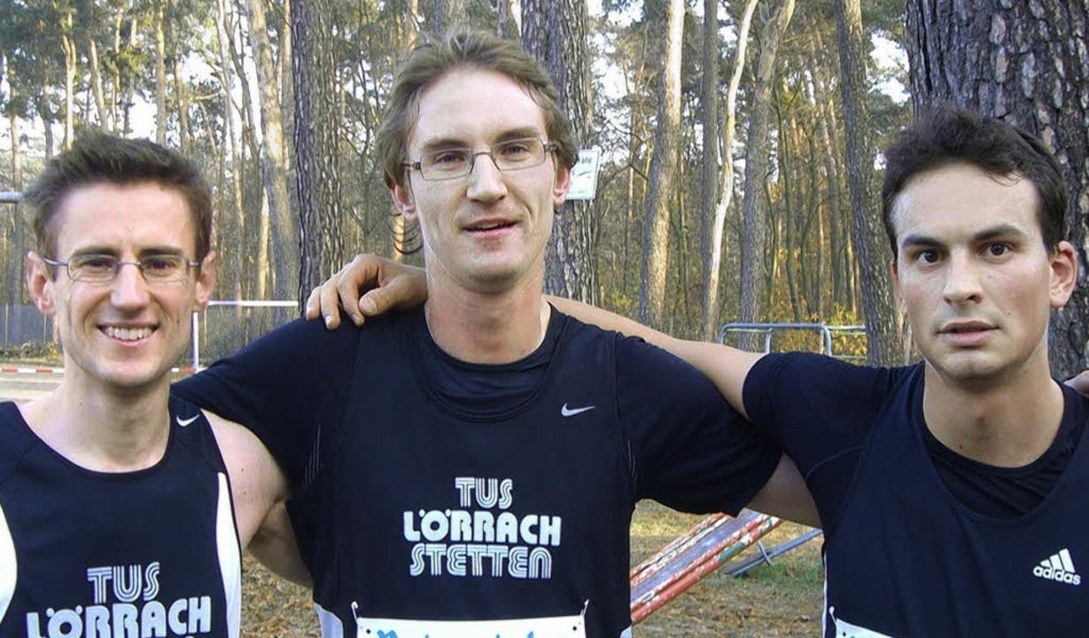 Die Silber-Mannschaft des TuS Lörrach-...li Kraus, Nils Janz und Marco Geiger.   | Foto: Privat