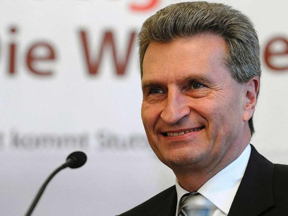 Pro Stuttgart 21: Günther Oettinger.  | Foto: dpa