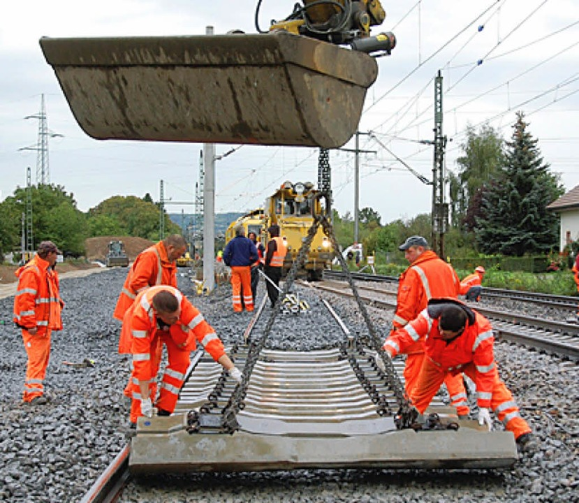 Baustelle der Bahnneubaustrecke nördlich von Haltingen   | Foto: Lauber