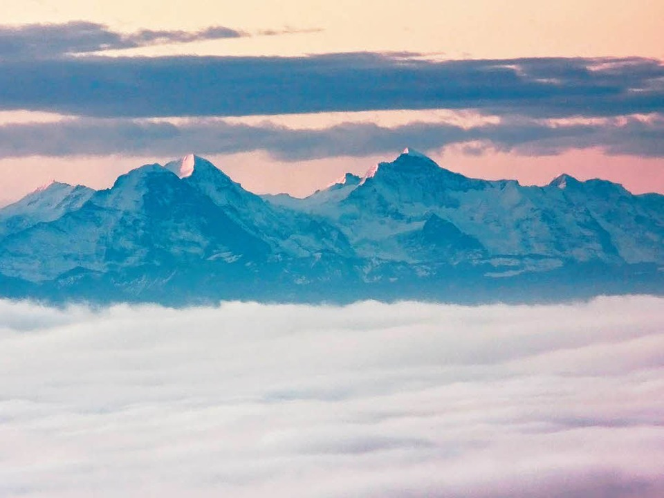 Dieses Foto entstand am 9. November. D...nschwand aus sogar die Alpen zu sehen.  | Foto: Ute Maier