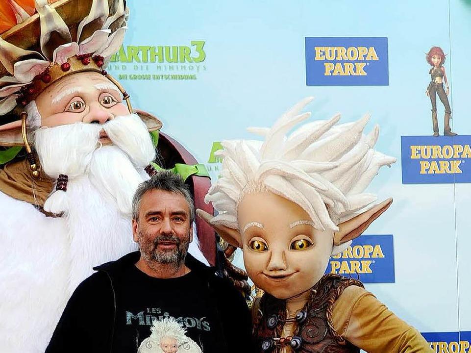 Luc Besson und sein Titelheld Arthur.  | Foto: BZ