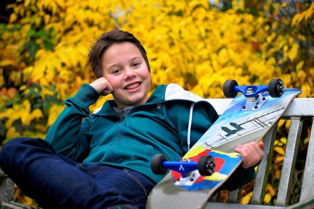 Andreas Warmbrunn (12), junger Schauspieler aus Littenweiler.  | Foto: Thomas Kunz