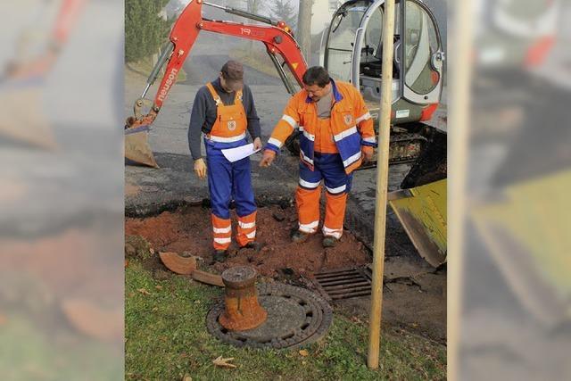 Rohrbruch - Oberbränd fünf Stunden ohne Wasser