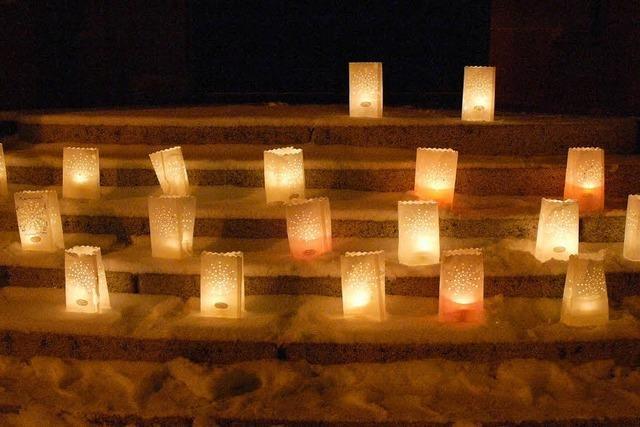 Musik und Kerzenschein