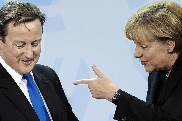 Merkel und Cameron üben sich in Eintracht