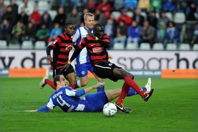 SC Freiburg gegen Hertha BSC Berlin: 2:2