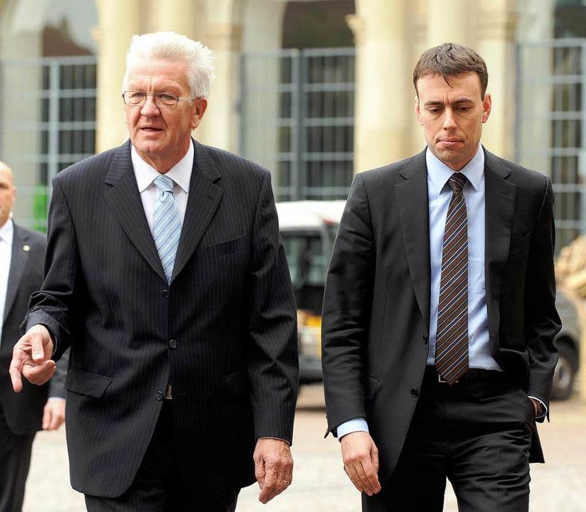 Der baden-württembergische Ministerprä...tgart (Aufnahme vom 25. Oktober 2011).  | Foto: dpa