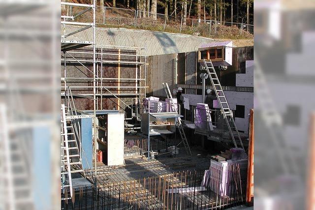 Hochbehälter in Hottingen macht gute Fortschritte