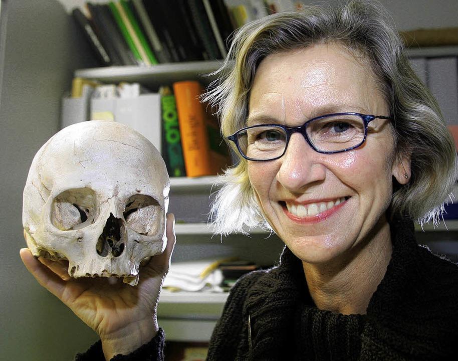 Passion für Schädel:  Wittwer-Backofen,  Forschungsgegenstand   | Foto: dpa