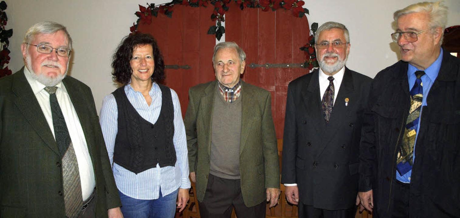 Vorstellung des neuen Almanachs des Ge...bel, Peter Ziegler und Herbert Walter   | Foto: Michael Haberer