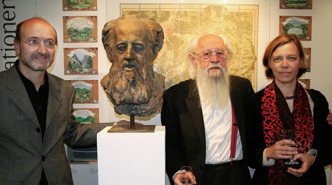 Bildhauer Wolfgang Eckert und seine Br...er und Malerin Julia Elsässer-Eckert.   | Foto: Dieter Maurer