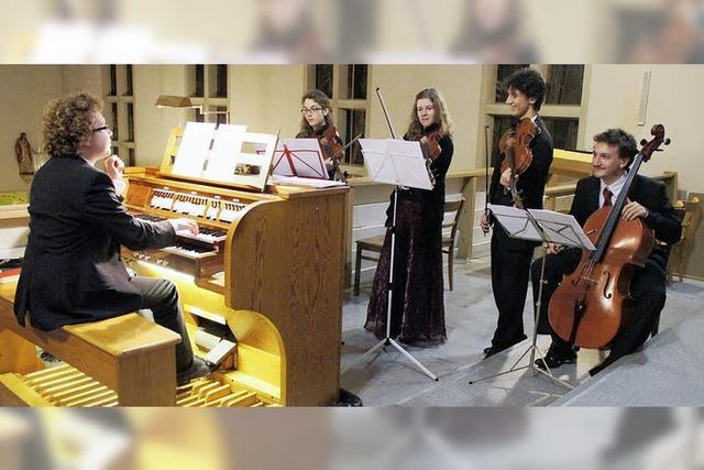 Gelungene Verbindung von Orgel und Streichquartett