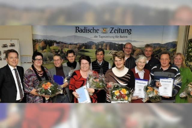 BZ-Zusteller feiern ihr Jubiläum