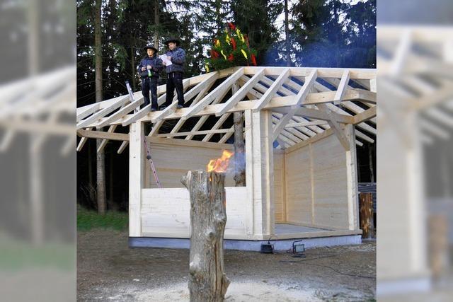 Hütte fast fertiggestellt