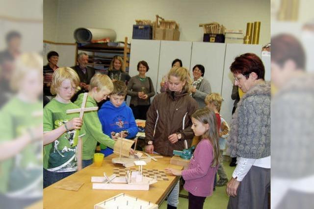 In Vörstettens Schule wird gehobelt