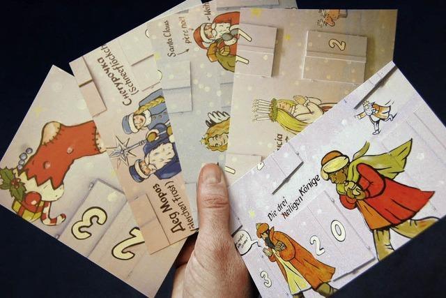 Motive vom Adventshaus auf Postkarten