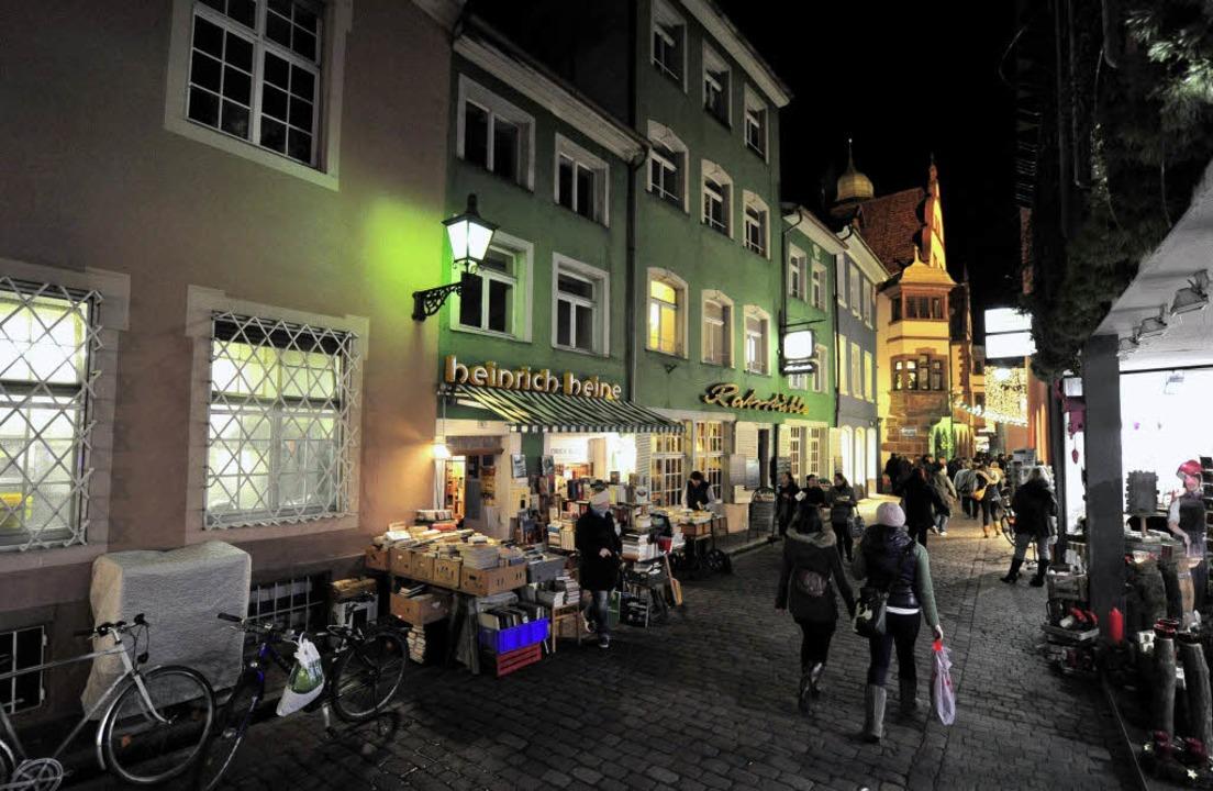 Ein Stück altes Freiburg:  Das Ratsstü...iversitätsstraße soll umgebaut werden.  | Foto: Ingo Schneider
