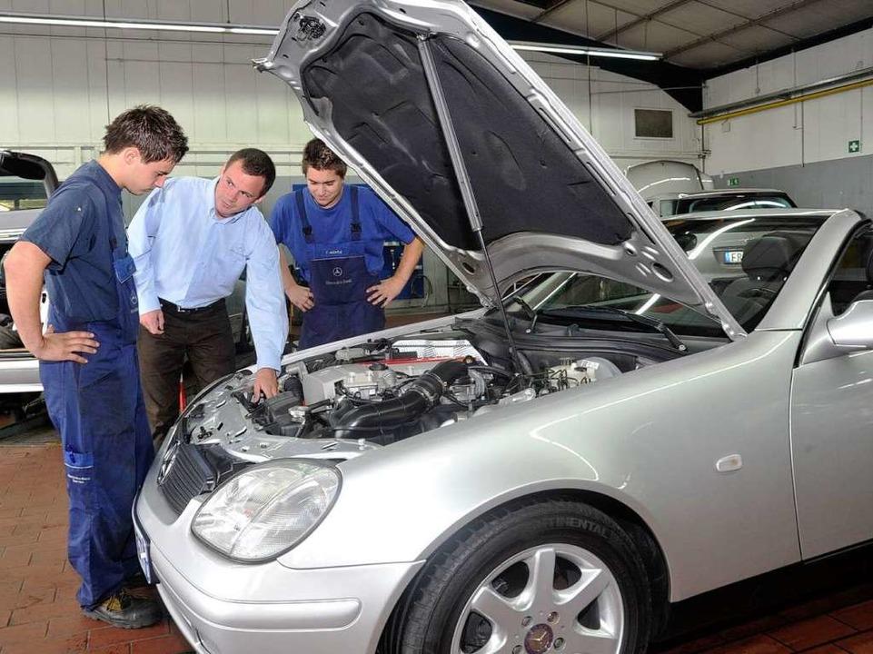 Dem Thema Ausbildung wird beim Autohau...lheim eine große Bedeutung zugemessen.  | Foto: Volker Münch