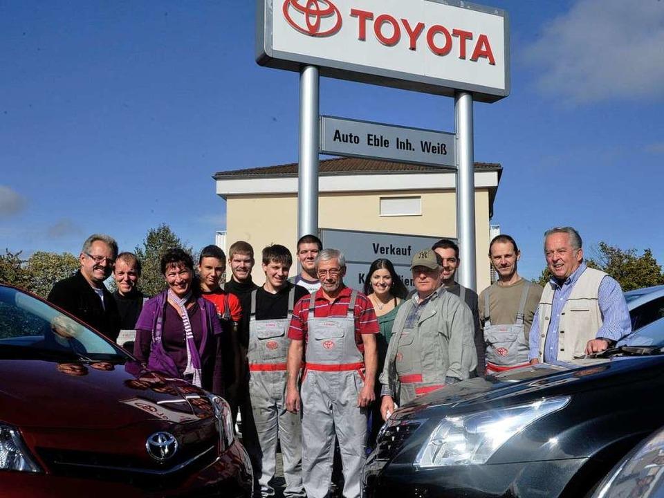 Seit 1973 vertritt das Team von Auto Eble die Automarke Toyota.    Foto: Volker Münch