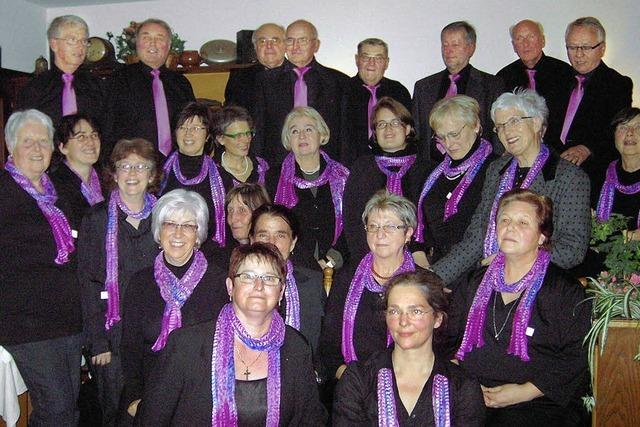 Chor feiert Jubiläum