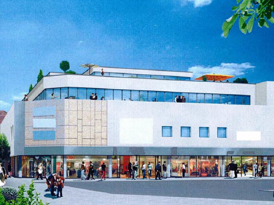 Eine ansprechende, zeitgemäße architek... wünscht sich die Stadt vom Investor.     Foto: Simulation: Olymp Sigma Investitions- und Beteiligungsgesellschaft