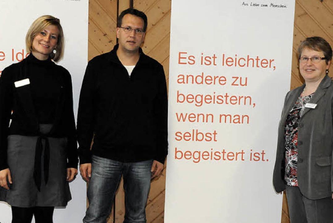 Simone Carl (von links), Denis Deiser ...n und Arbeitsgemeinschaften tätig sind    Foto: Markus Zimmermann