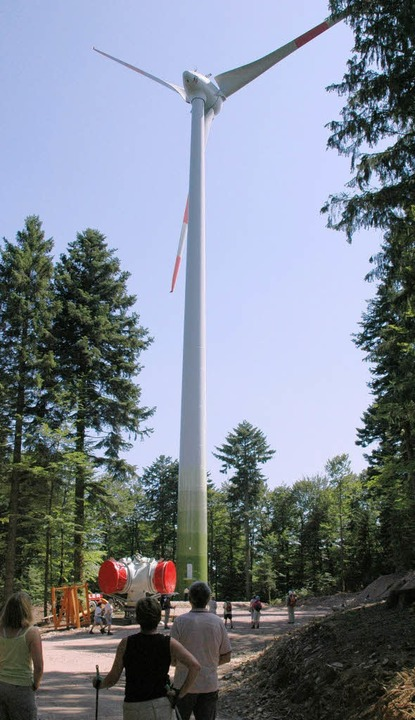 Energiewende contra Landschaftsschutz .... Hier ein Foto vom Fröhnder Windrad.   | Foto: ralf dorweiler