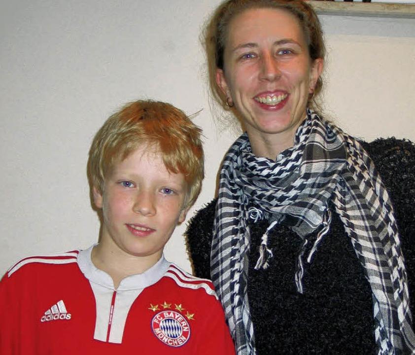 Fabian Ihrig und Mutter Christina  | Foto: Jutta schütz