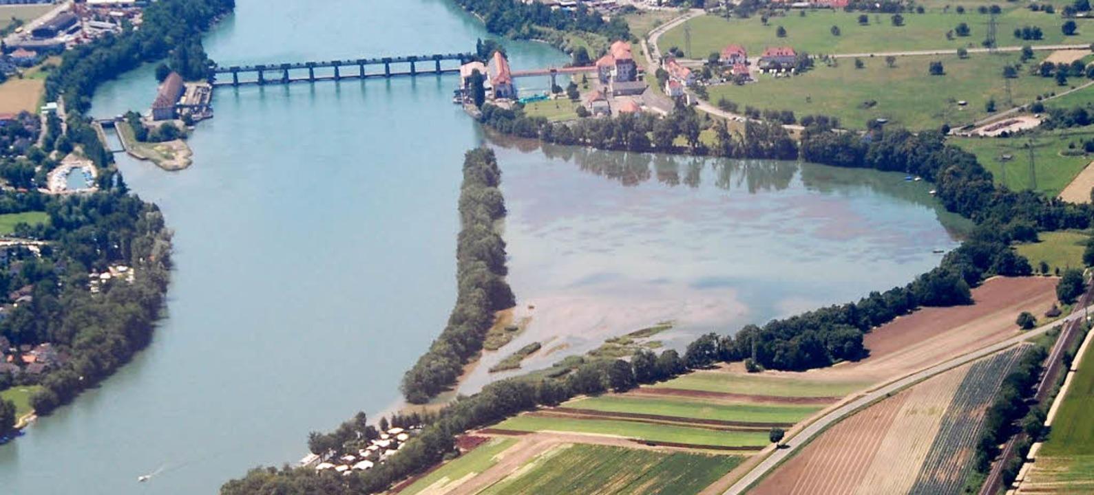 Der Altrhein aus der Vogelperspektive   | Foto: Archiv: Hannes Lauber