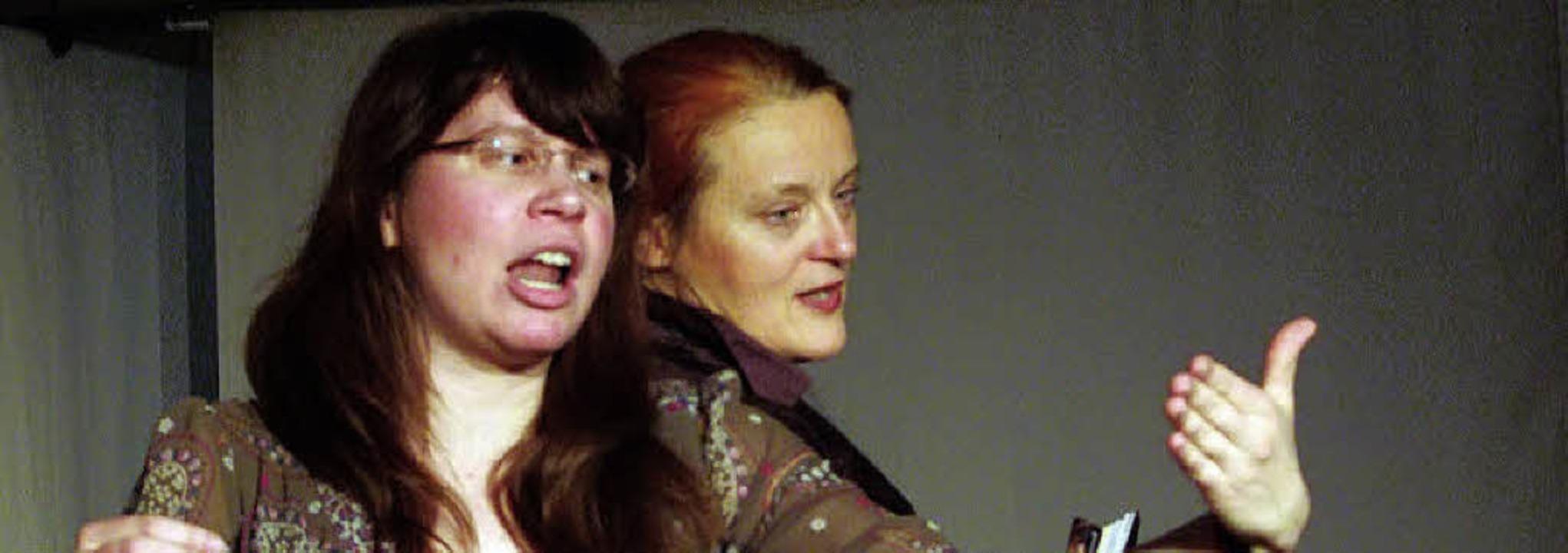 Spieglein, Spieglein: Kirsten Mohri und  Beate Albrecht   | Foto: David-Wenk