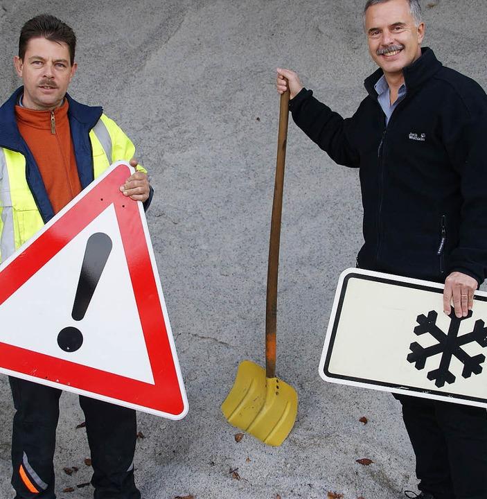 Die Wehrer Stadtverwaltung zeigt sich ...r Grether (links) und Helmut Wunderle   | Foto: hrvoje miloslavic