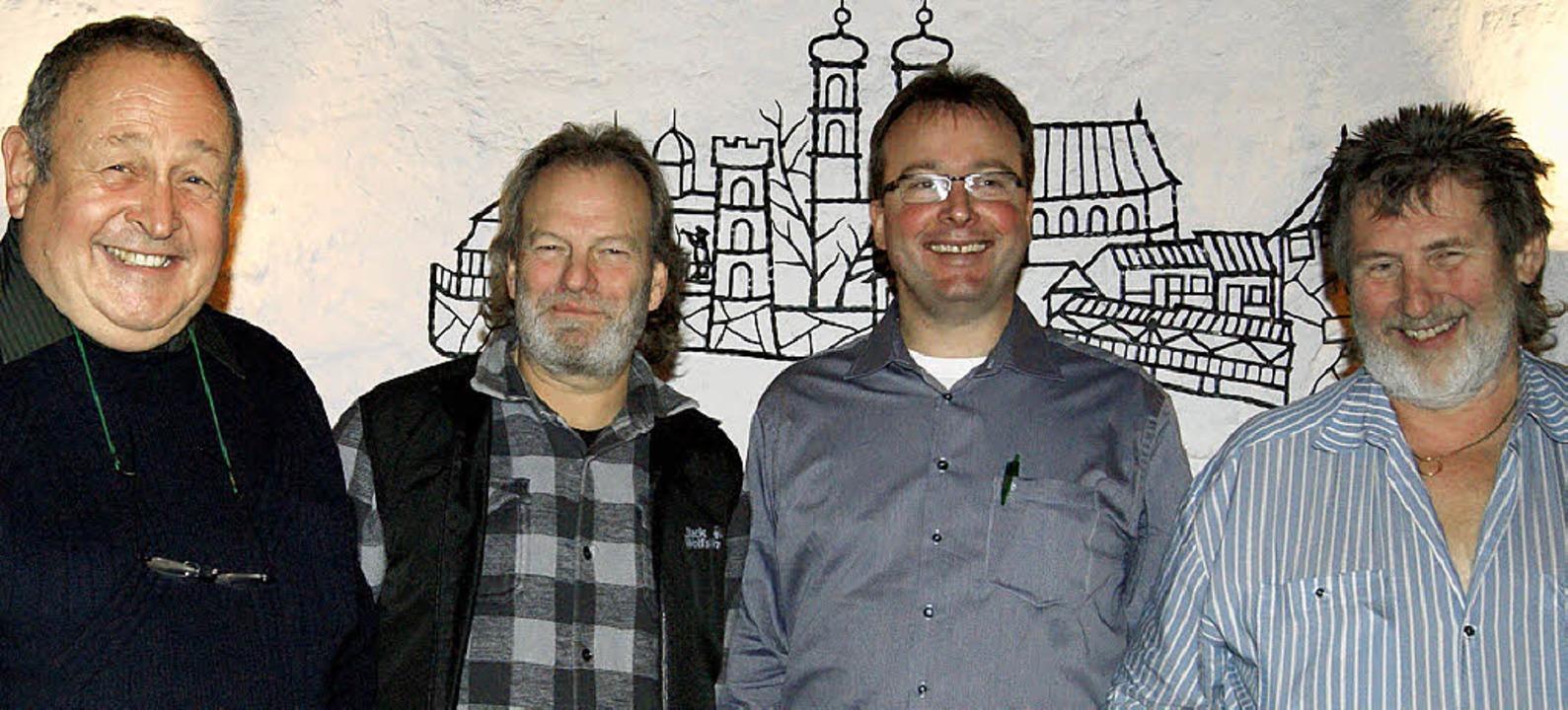Der amtierende Landschaftsvertreter un...thy, Olaf Michel und René Leuenberger   | Foto: MARIA SCHLAGETER