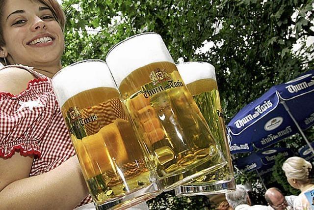 Ein Biergarten für Ausflügler im LGS-Gelände?