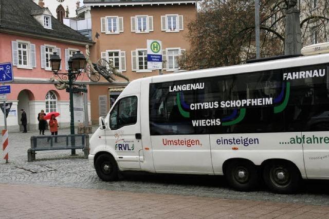 Citybus mit einem neuen Fahrplan