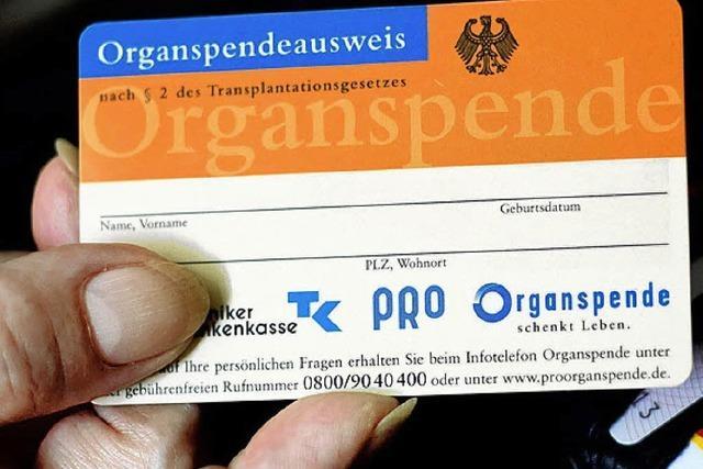 Im Prinzip bereit zur Organspende