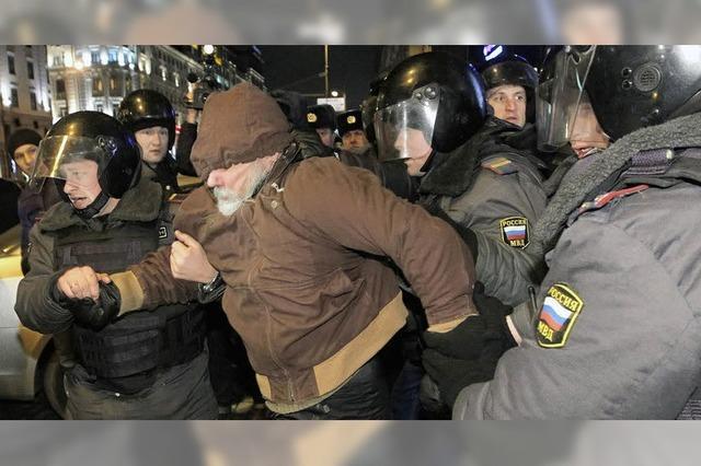 Proteste nach Wahl: Putin greift Clinton an