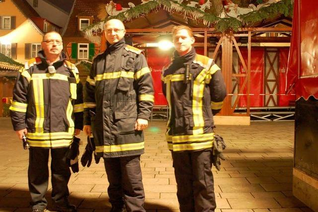 Weihnachtsmarkt Offenburg: Erstmals hält die Feuerwehr Nachtwache