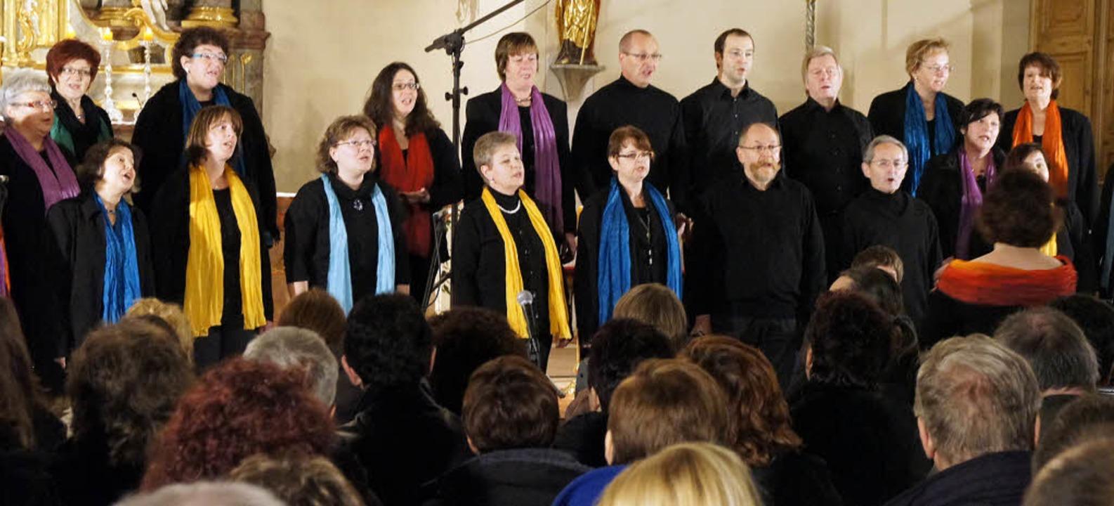 Am Freitag gaben die Gospel Singers un...ia Christ ein Konzert in Sankt Ulrich.  | Foto: Hüge