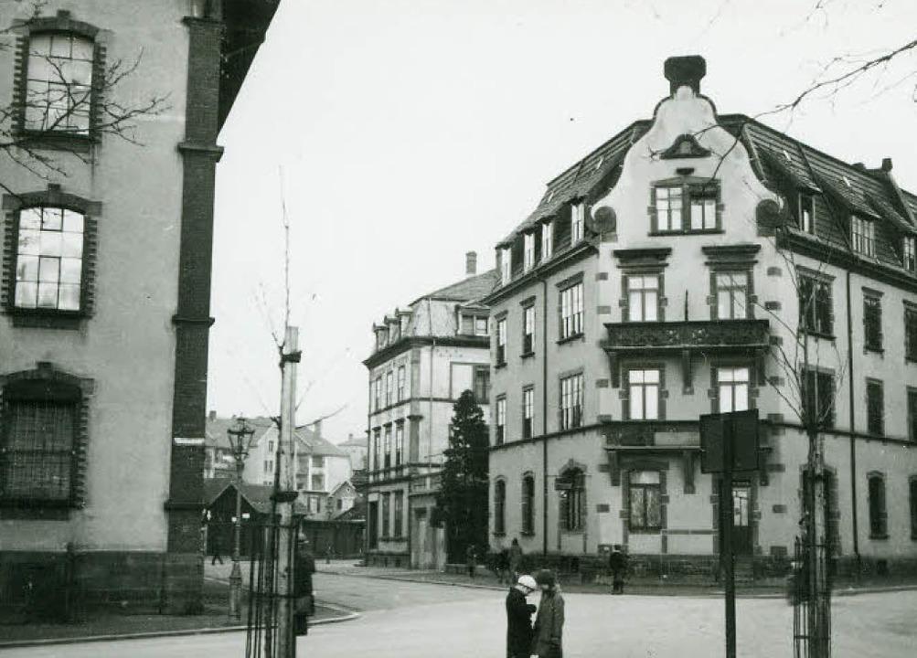 Die Fedderstraße im Stühlinger, hier a...stört und verläuft heute  ganz anders.  | Foto: Stadtarchiv