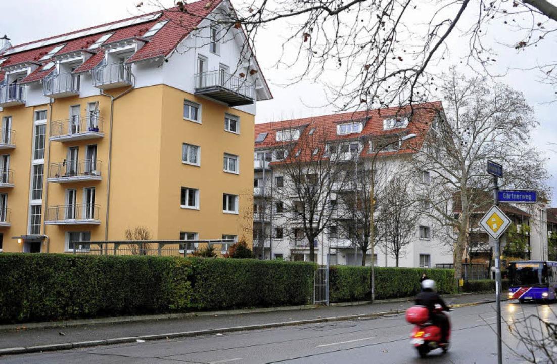 Die Einmündung der Fedderstraße in die... jetzt das kleine Gittertor befindet.   | Foto: Thomas Kunz
